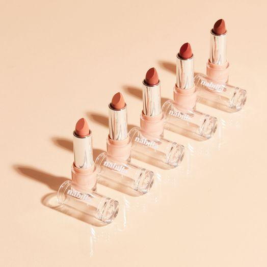 3 lipsticks crémeux nude au choix