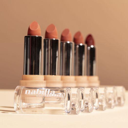 3 lipsticks mats nude au choix